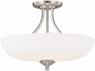 Capital Lighting 3947MN-SW Chapman Matte Nickel Semi-Flush Overhead Lighting