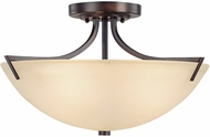Capital Lighting 4037BB Stanton Burnished Bronze Semi-Flush Flush Mount Ceiling Light Fixture