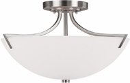 Capital Lighting 4037BN Stanton Brushed Nickel Semi-Flush Overhead Light Fixture