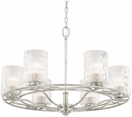 Capital Lighting 410661AS-301 Riviera Modern Antique Silver Chandelier Light