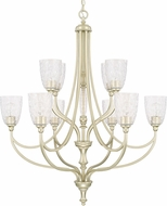Capital Lighting 410801SF-302 Seaton Contemporary Soft Gold Ceiling Chandelier