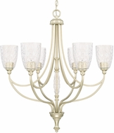 Capital Lighting 410861SF-302 Seaton Modern Soft Gold Hanging Chandelier