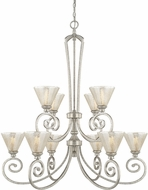Capital Lighting 410901AS-315 Seaton Contemporary Antique Silver Chandelier Light