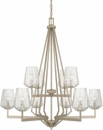 Capital Lighting 411201BS-317 Arden Contemporary Brushed Silver Chandelier Lighting