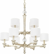 Capital Lighting 411701GS-654 Carlyle Gilded Silver Chandelier Light