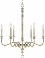 Capital Lighting 413361SG Charleston Silver and Gold Leaf Chandelier Light