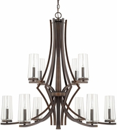 Capital Lighting 413501BB-326 Stella Contemporary Burnished Bronze Ceiling Chandelier