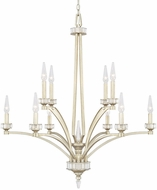 Capital Lighting 415001WG Olivia Winter Gold Ceiling Chandelier