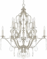 Capital Lighting 4180AS-CR Blakely Antique Silver Chandelier Light