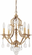 Capital Lighting 4184AG-CR Blakely Antique Gold Mini Hanging Chandelier