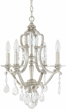 Capital Lighting 4184AS-CR Blakely Antique Silver Mini Chandelier Light