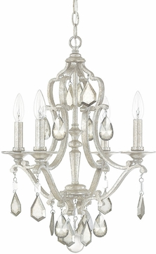 Capital Lighting 4184AS-PC Blakely Antique Silver Mini Chandelier Lighting