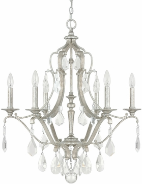 Capital Lighting 4186AS-CR Blakely Antique Silver Chandelier Lamp