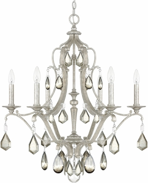 Capital Lighting 4186AS-PC Blakely Antique Silver Chandelier Light