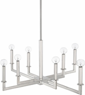 Capital Lighting 419281PN City Modern Polished Nickel Chandelier Light