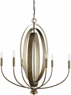 Capital Lighting 424961SZ Dahlia Modern Silver and Bronze Lighting Chandelier