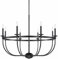 Capital Lighting 425181MB Rylann Contemporary Matte Black Chandelier Light