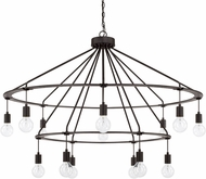 Capital Lighting 425602BI Modern Black Iron Chandelier Light