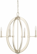 Capital Lighting 425841PN Modern Polished Nickel Lighting Chandelier