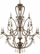 Capital Lighting 4290SD-000-CR Claybourne Traditional Suede Chandelier Lamp