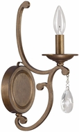 Capital Lighting 4291SD-000-CR Claybourne Traditional Suede Wall Light Fixture