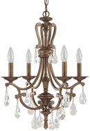 Capital Lighting 4294SD-000-CR Claybourne Traditional Suede Mini Ceiling Chandelier