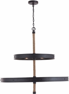 Capital Lighting 430702RI Walker Modern Rustic Iron Chandelier Light