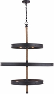 Capital Lighting 430703RI Walker Contemporary Rustic Iron Ceiling Chandelier
