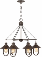 Capital Lighting 430861MI Pawley Modern Mineral Brown Hanging Chandelier