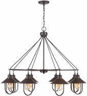 Capital Lighting 430881MI Pawley Contemporary Mineral Brown Chandelier Light