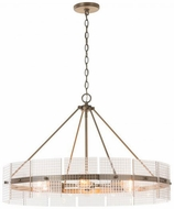 Capital Lighting 431161AD Drew Contemporary Aged Brass 31.5  Chandelier Lighting