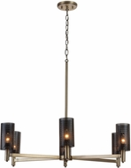 Capital Lighting 431261AB Dax Contemporary Aged Brass and Black Chandelier Lamp