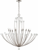 Capital Lighting 431701PN Audra Contemporary Polished Nickel Chandelier Light