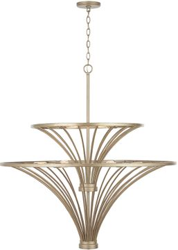 Capital Lighting 432091AP Fontaine Contemporary Aged Brass Painted Hanging Pendant Light
