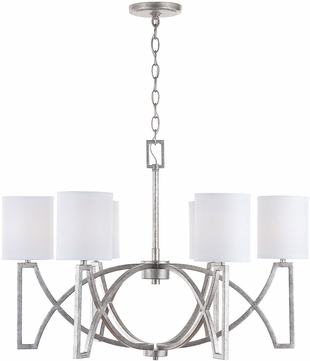 Capital Lighting 432461AS-689 Bryce Contemporary Antique Silver Ceiling Chandelier