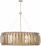 Capital Lighting 432701AP Cayden Modern Aged Brass Painted 48  Pendant Hanging Light