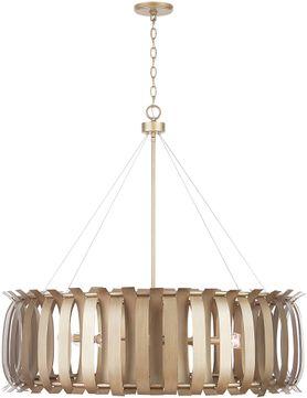 Capital Lighting 432781AP Cayden Contemporary Aged Brass Painted 38  Hanging Light Fixture