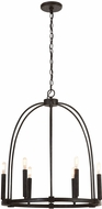 Capital Lighting 432861MI Modern Mineral Brown Mini Chandelier Lighting