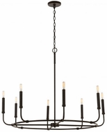 Capital Lighting 432882MI Modern Mineral Brown Chandelier Lamp
