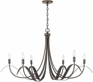 Capital Lighting 434761TB Tess Modern Tobacco Chandelier Light