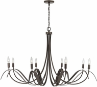 Capital Lighting 434781TB Tess Contemporary Tobacco Ceiling Chandelier