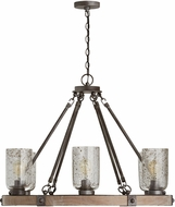 Capital Lighting 434961UW-482 Nolan Contemporary Urban Wash Hanging Chandelier