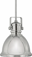 Capital Lighting 4431PN Modern Polished Nickel Mini Pendant Lighting Fixture
