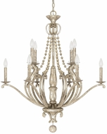 Capital Lighting 4440SQ-000 Adele Traditional Silver Quartz Chandelier Lamp