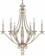 Capital Lighting 4446SQ-000 Adele Traditional Silver Quartz Ceiling Chandelier