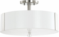 Capital Lighting 4486PN-159 Alisa Polished Nickel Semi-Flush Ceiling Light Fixture