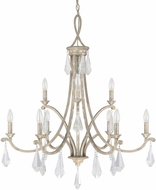 Capital Lighting 4499SQ-000-CR Harlow Silver Quartz Ceiling Chandelier