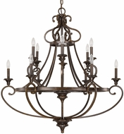 Capital Lighting 4532CB-000 Maxwell Chesterfield Brown Hanging Chandelier