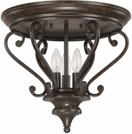Capital Lighting 4533CB Maxwell Chesterfield Brown Flush Lighting