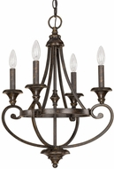 Capital Lighting 4534CB-000 Maxwell Chesterfield Brown Mini Chandelier Light